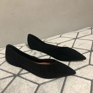 Topshop Black Pointed Attitude Toe Flats